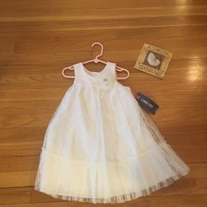 White Cherokee Girls Dress 4/5 flower NWT pretty